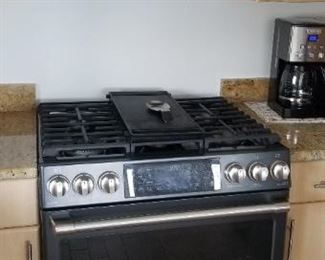 GE Cafe microwave oven mfg. 8/17