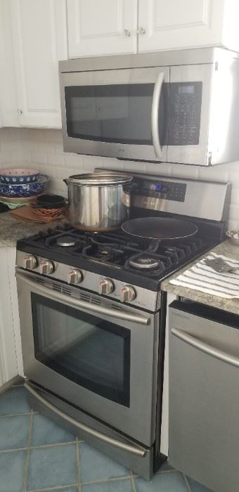 Samsung microwave oven mfg. 5/12; gas range
