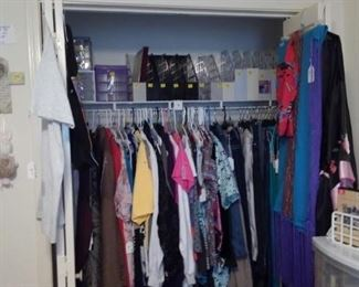Clothing in the office closet