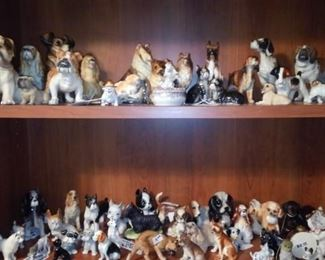 Part of the dog collection in the office.