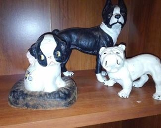 Cast iron pups in the office.