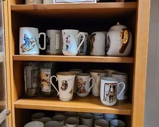 Norman Rockwall cups and steins
