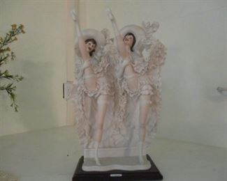 G. Armani statue of Two Cancan Dancers
