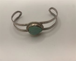 """Petite Cuff  2"""" by 1.25"""" stone 3/8"""" by 1/2"""" $25"""
