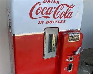 1950's Coke Machine, not running but 100% complete.