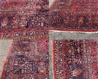 Incredible intricate design on this huge fine old Sarouk Rug. 312 square feet overall.