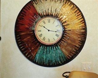 LARGE MULTI COLORED CLOCK