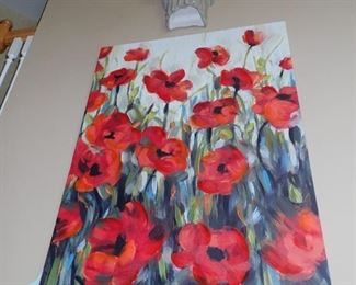 LARGE POPPY CANVAS PICTURE