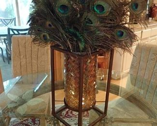 IRON WITH GLASS PLANTER