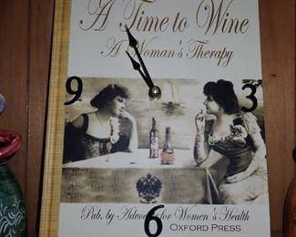A TIME TO WINE CLOCK