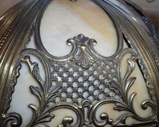 CARMEL SLAG GLASS LAMP