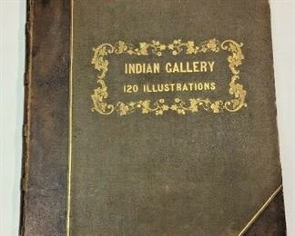 """https://www.ebay.com/itm/124776471336ME1002 LARGE ANTIQUE BOOK """"INDIAN GALLERY VOL 3: TRIBES OF NORTH AMERICA"""" 1844"""