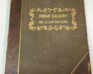 """https://www.ebay.com/itm/124776471335ME1003 LARGE ANTIQUE BOOK """"INDIAN GALLERY VOL 2: TRIBES OF NORTH AMERICA"""" C.1836"""