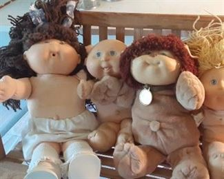 Cabbage patch dolls.  Some new in box.