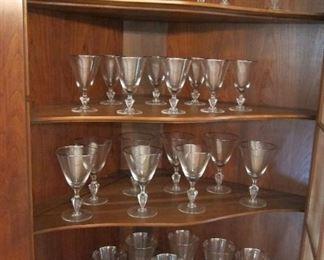 SILVER RIMMED STEMMED GLASSES