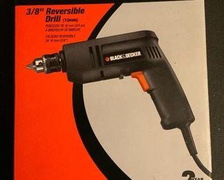 "Black & Decker 3/8"" Reversible Drill w/6' cord.  #7152"