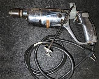 "Dunlap 1/4"" Electric Drill 115V AC/DC 1.6 Amps. 1500RPM Sears, Roebuck Co"