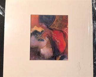"""""""Turbulence"""" Original Art by Jane Paden 12 x 12 Matted"""