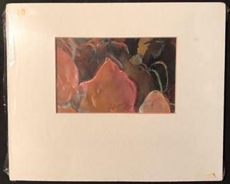 """""""The Ship Master"""" Original Art by Jane Paden 12"""" x 10"""" matted/unframed"""
