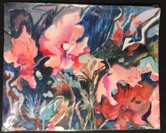 """Dancing"" Original Watercolor by Jane Root Paden (21""x17"")"