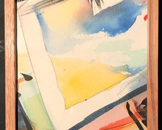 """Open Window"" Original Art by Arthur Turner. 1989  Mixed Media Water Color( 8 x 10)."