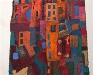 "Jane Paden Original Art Casein on Rice Paper 8"" x 15"""