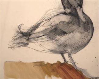 """Mallard"" Original Watercolor  Signed By Artist Susan ARNDT 17 x 23"