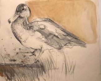 """Wood Duck"" Original Watercolor Signed By Artist Susan ARNDT 26 x 23"