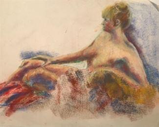 """Jane Paden """"Study in Nude"""" Original Art (24"""" x 16"""")"""