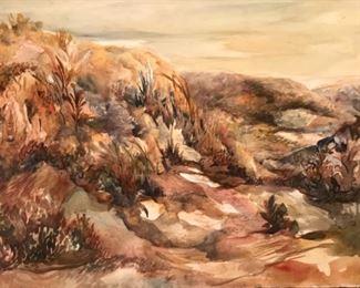 "Jane Paden Original Watercolor ""Big Bend"" (30"" x 20"")"
