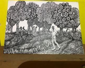 Original Art Signed By Artist Jane Paden