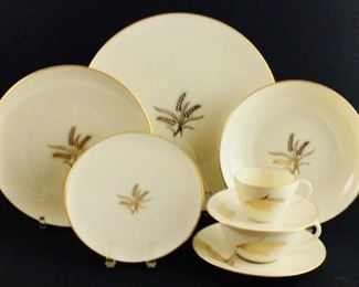 Westfield by Lenox - 10 dinner plates, 12 salad plates, 10 B & B plates, six soup bowls, 12 cup and saucers, nine demitasse cups and saucers. 93 pieces total with platter and serving bowls shown on next image
