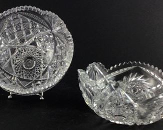 American brilliant cut 8 inch bowl (2)