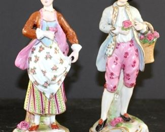 Kalk crossed arrows antique porcelain figurines from Germany