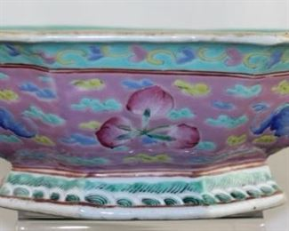 Oriental style Porcelain and Handpainted and Octagon bowl