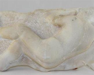 Antique Carved Alabaster Man Sleeping