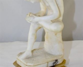 Spenario Boy with Thorn Statue in Carved Alabaster