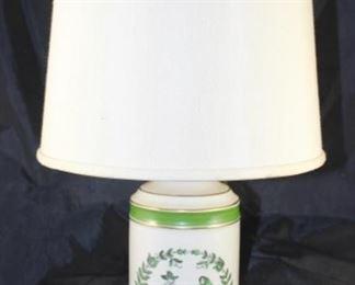 """Pennsylvanian Dutch """"Couple"""" Vintage Porcelain Table Lamp"""