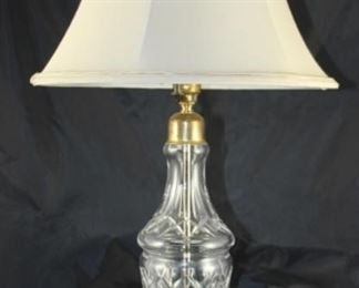 """Waterford crystal table lamp 27""""H"""