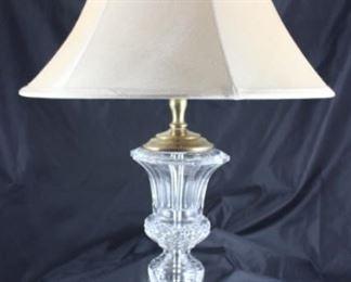 "Vintage Cut Crystal Lamp  (base 14""H/with shade 25"")"