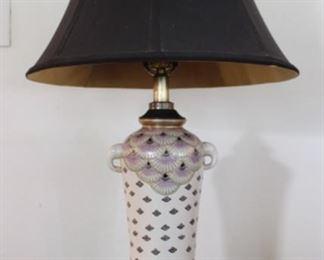 Porcelain Elephant Walk Handle in Vintage lamp