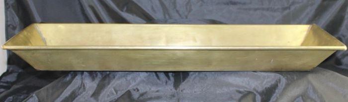 "Vintage brass tray 23 1/2 x 8 1/2"""