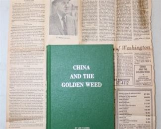China and the Golden Weed by Lee Parker and Ruth Dorval Jones with a newspaper clipping.