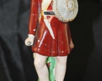 Staffordshire antique Macbeth figurine.