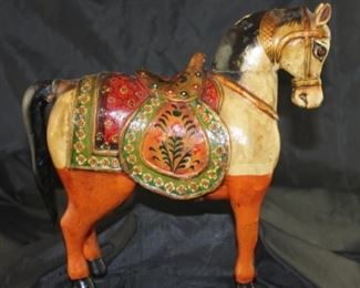 Vintage and Carved and Painted Horse