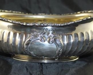 """Gorham sterling oval bowl 8 x 6 x 3"""""""