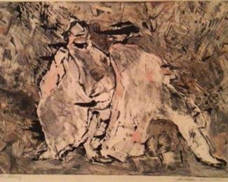 """Storm Warning"" Signed by Artist Jane Paden.  Original 1/1   (27"" x 20 1/2"")"