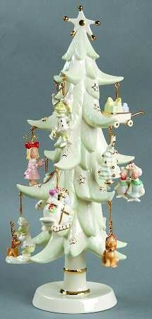 "LENOX, ""How the Grinch Stole Christmas""  Porcelain Tree (13""H)& (12) Miniature Ornaments. A Boxed Set"