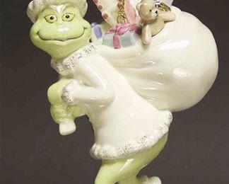 """LENOX Dr Seuss """"Old Grinchy Claus"""". Porcelain Christmas Ornament 2006"""