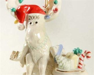 "LENOX ""Merry Moosclause"" 2006 Annual  Porcelain Ornament"